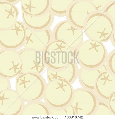 Frozen Dumplings Seamless Patetrn. Vector Ornament For Food Lovers. Meat Semi-finished Product Backg