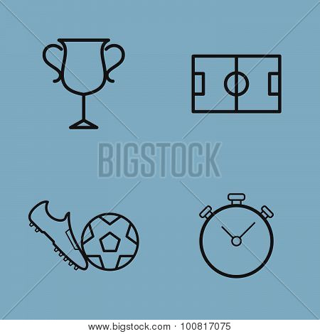 Soccer Line Icon Set