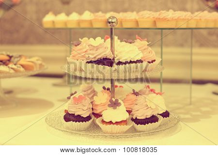 Delicious Cupcakes On Stand