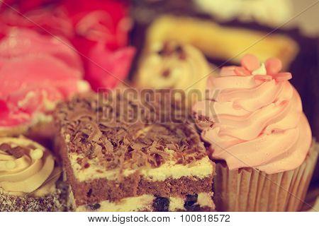 Delicious Cupcake And Mini Cake