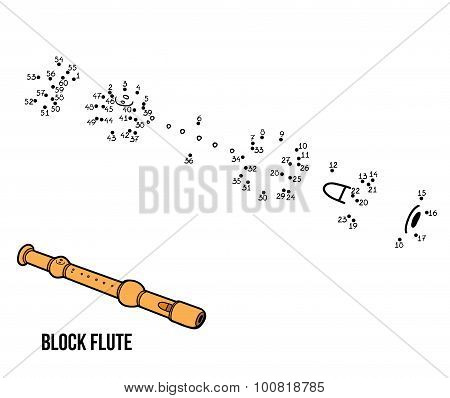 Numbers Game For Children: Musical Instruments (block Flute)