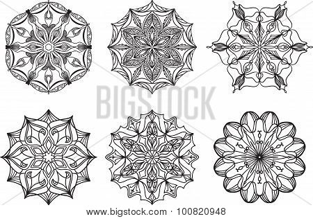 Set Of Doodle Vector Elements On White Background