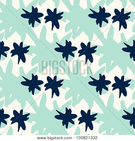 seamless pattern with mint aqua star stains