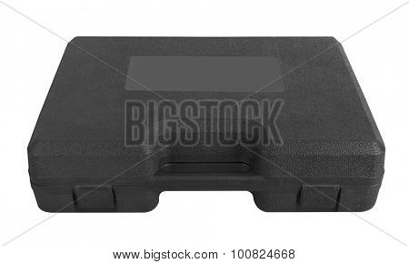 Plastic case isolated on a white background