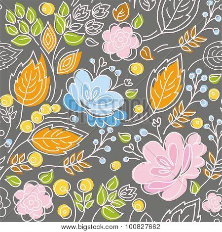 Seamless Pattern, Pink, Blue ...