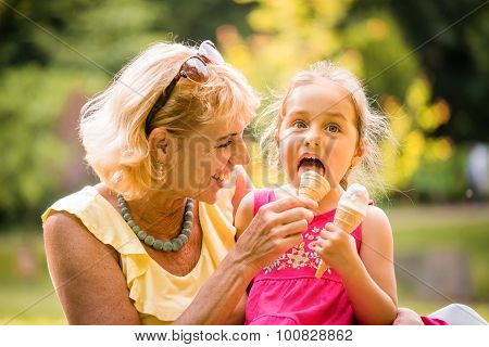 Eating icecream together