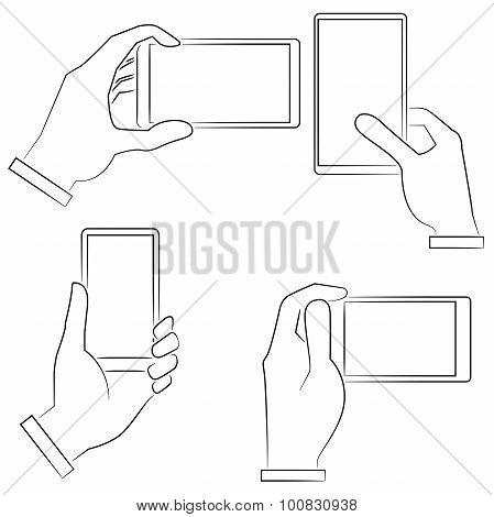 hand holding phones