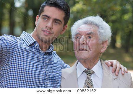 Senior Man And His Son