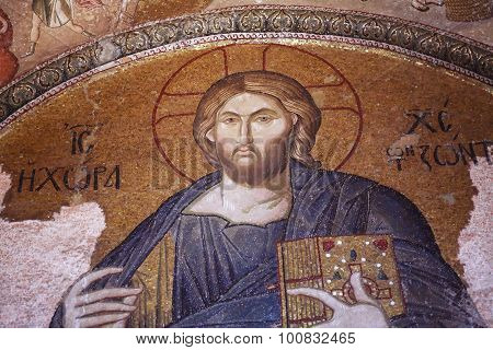 Byzantium Mosaic In Kariye Museum