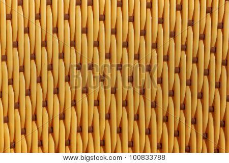 Yellow Weaved Plastic Texture