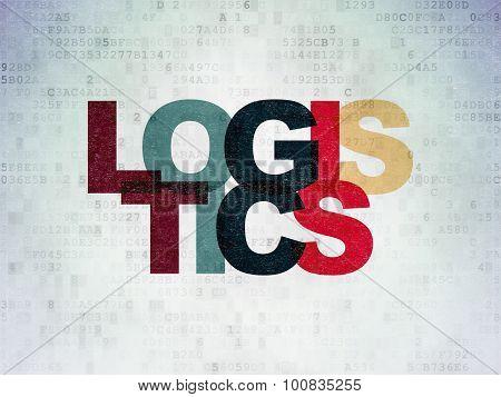 Business concept: Logistics on Digital Paper background