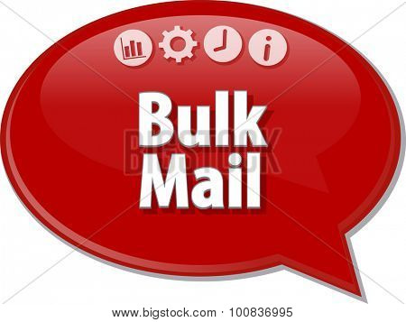 Blank business strategy concept infographic diagram illustration Bulk Mail
