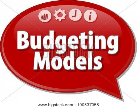 Blank business strategy concept infographic diagram illustration Budgeting Models