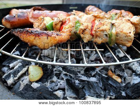 Meat And Vegetables Char-grilled