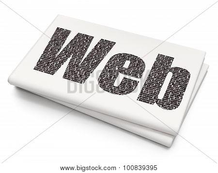 Web design concept: Web on Blank Newspaper background