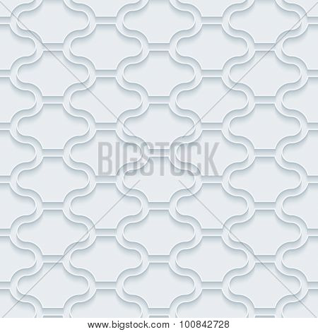 Pavement. White paper with outline extrude effect. Abstract 3d seamless background.