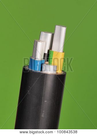 Medium voltage 1kV Aluminum sector cable end with stripped