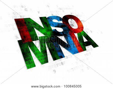 Medicine concept: Insomnia on Digital background