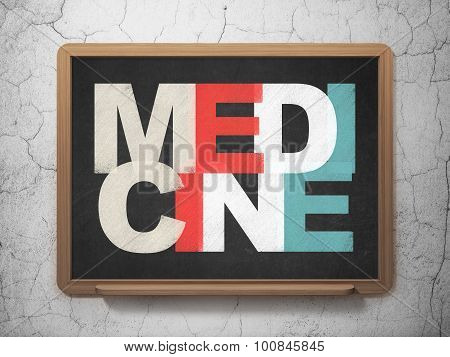 Medicine concept: Medicine on School Board background