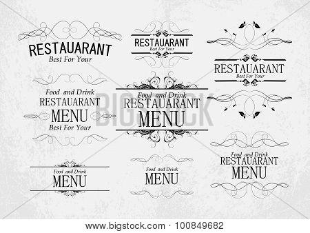 Set Of Templates For Restaurant Menu