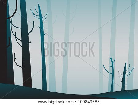 Illustration Of Forest.