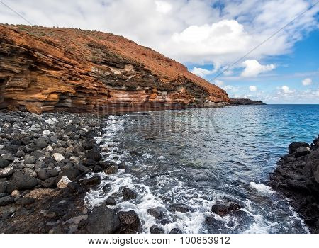 Yellow Mountain (montana Amarilla) In Costa Del Silencio. Tenerife