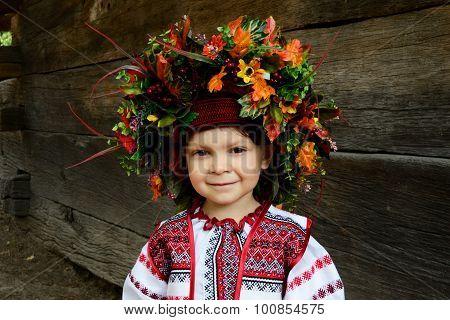 Little Girl In National Dress