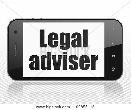 Law concept: Smartphone with Legal Adviser on display