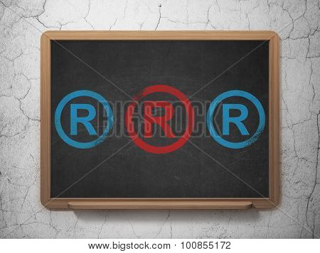 Law concept: registered icon on School Board background
