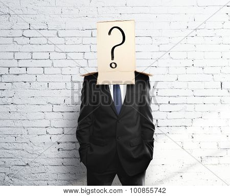Box On Head With Question Mark