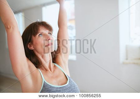 Fitness Female In Warrior Pose