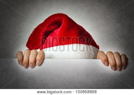 Hiding Santa Woman