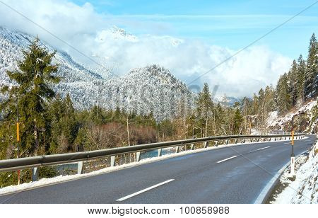 The Road In Mountain (austria, Tirol).
