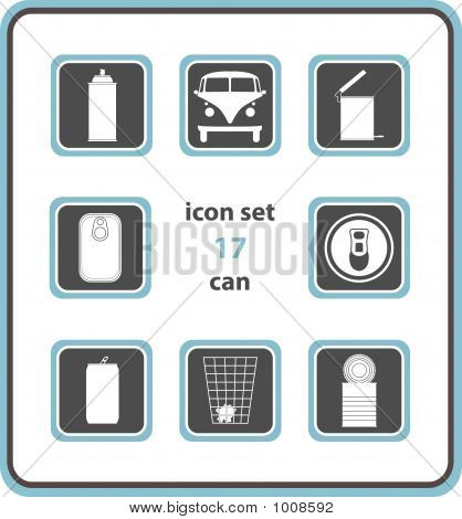 Vector Icon Set 17: Can