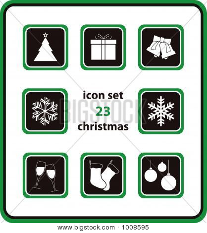 Vector Icon Set 23: Christmas