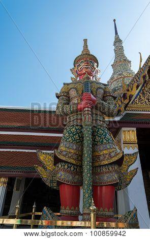 Demon Yaksha In Wat Phra Kaeo