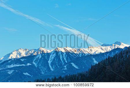Winter Mountain Landscape, Austria.