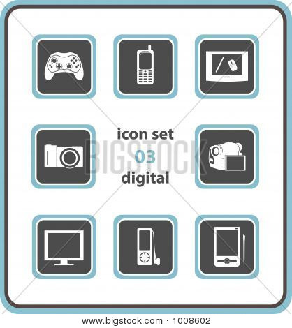 Vector Icon Set 03: Digital