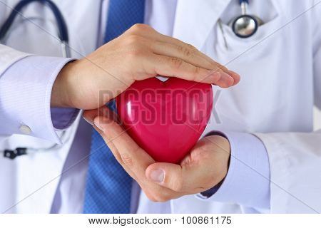 Male Medicine Doctor Hands