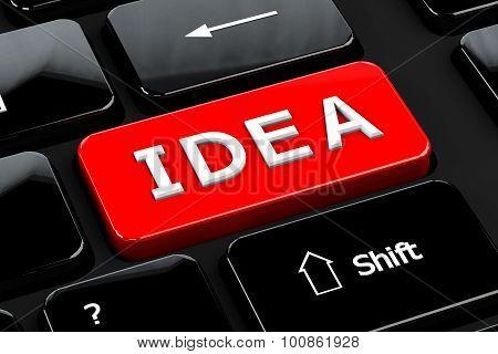 Idea On Computer Keyboard Background