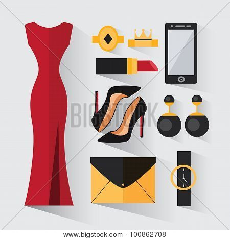 A Set Of Evening Dress For Women