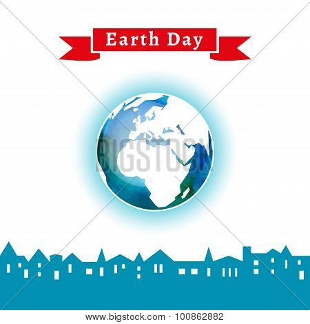 Concept for celebrating of Earth Day.