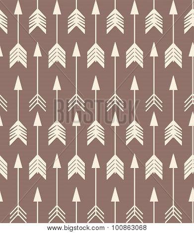 Bohemian Hand Drawn Arrows, Seamless Pattern