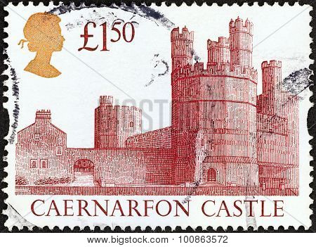 UNITED KINGDOM - CIRCA 1992 A stamp printed in United Kingdom shows Caernarfon Castle
