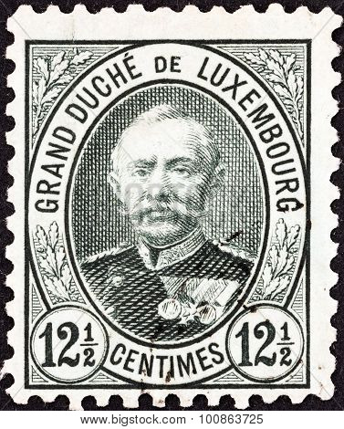 LUXEMBOURG - CIRCA 1891: A stamp printed in Luxembourg shows Grand Duke Adolphe