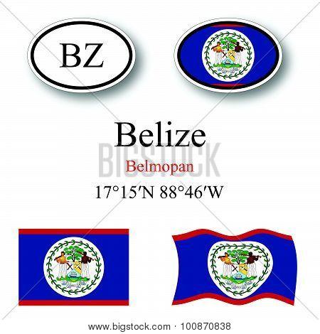 Belize Icons Set