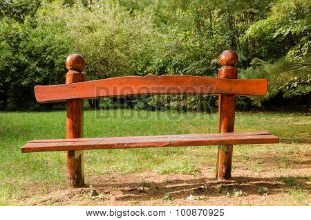 resting place - wooden bench in the park