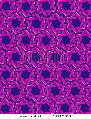 Pink gear elements on blue background
