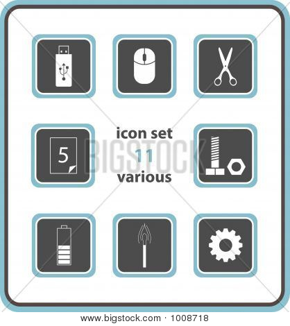 Vector Icon Set 11: Various