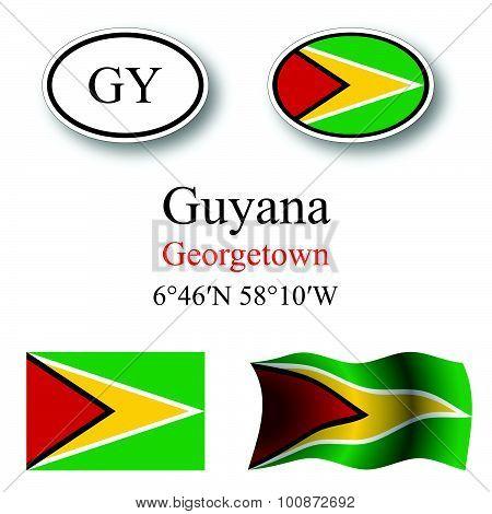Guyana Icons Set